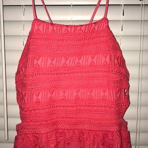 Bnwt coral crochet dress